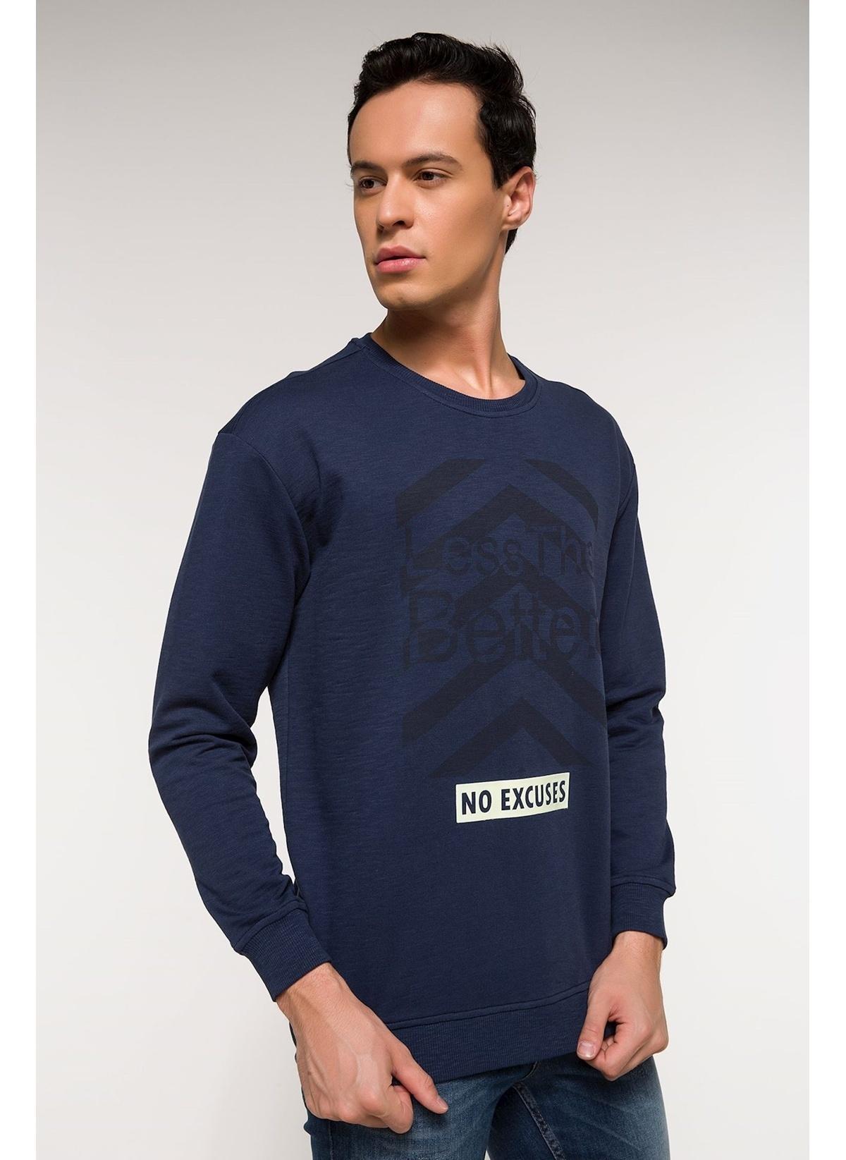 Defacto Sıfır Yaka Baskılı Sweatshirt I3576az18spın75 Sweatshirt – 29.99 TL